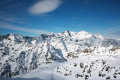 góry snowed Obrazy Stock