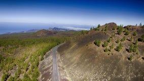 Góry Tenerife, widok z lotu ptaka Obrazy Royalty Free