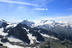 Góry Titlis panorama fotografia stock