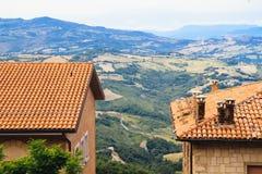 Góry Tuscany, Włochy Obrazy Stock