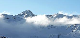 Góry Val Thorens, Francja Zdjęcia Stock