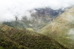 Góry w Abra Malaga przepustce fotografia stock