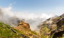 Góry w chmura krajobrazie Obraz Royalty Free