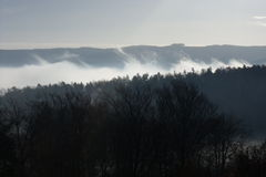 Góry w chmurach. Obraz Stock