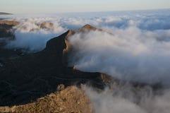 Góry w chmurach Zdjęcie Stock