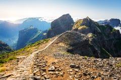 Góry w chmurach Fotografia Stock