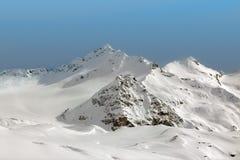 Góry w chmurach obraz royalty free