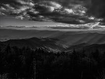 Góry w czarny i biały Obrazy Royalty Free