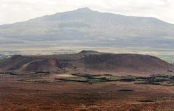 Góry w dolinie Kenya Fotografia Royalty Free