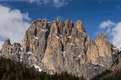 Góry w Dolinnym Di Fassa blisko Pozza Di Fassa Trentino Ja Fotografia Stock