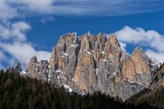 Góry w Dolinnym Di Fassa blisko Pozza Di Fassa Trentino Ja obrazy stock