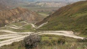 Góry w Kirgistan przepustka kraj Otwiera Za Ferghana dolinie zbiory wideo