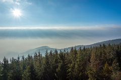 Góry w mgle Obrazy Royalty Free