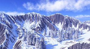 Góry w śniegu Fotografia Stock