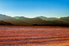 Góry w pustyni w Egipt krajobrazie w pustyni w Egipt Zdjęcia Stock