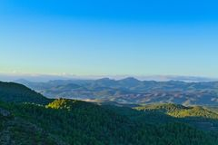 Góry w sierra Calderona naturalny park zdjęcia stock