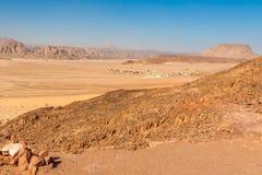 Góry w Synaj pustyni Zdjęcia Royalty Free