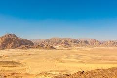 Góry w Synaj pustyni Zdjęcia Stock