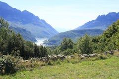 Góry w Tena dolinie, Pyrenees Panticosa Fotografia Royalty Free