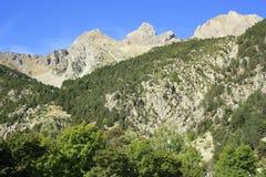 Góry w Tena dolinie, Pyrenees Panticosa Obrazy Royalty Free