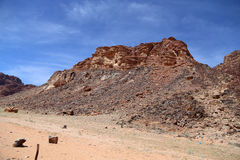 Góry wadiego rumu pustynia także znać jako dolina księżyc Zdjęcie Stock