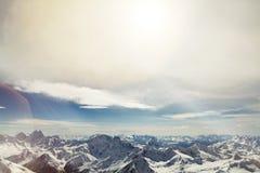 Góry, widok od peack Elbrus Zdjęcie Royalty Free