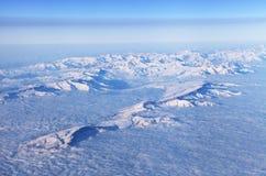 Góry, widok od samolotu fotografia royalty free