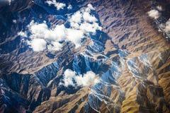 Góry widok z lotu ptaka Zdjęcia Stock
