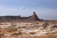 Góry wzdłuż Perskiej zatoki w Iran fotografia stock