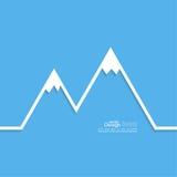 Góry z śnieżnymi szczytami ilustracja wektor
