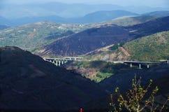 Góry z burnt górą zdjęcie royalty free
