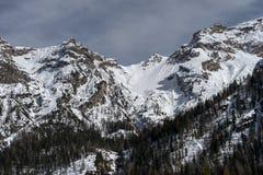 Góry zbliżają Cortina d'Ampezzo obrazy royalty free