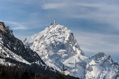 Góry zbliżają Cortina d'Ampezzo zdjęcia royalty free