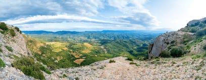 góry zielona panorama Zdjęcia Royalty Free