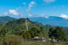 Górzysta granica która oddziela Tajlandia, Myanmar - przy doi angk Fotografia Stock
