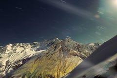 Górzyste krajobraz gwiazdy Obraz Stock