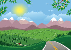 Górzysty dnia krajobraz Fotografia Stock