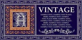 Gótico. Quadro bonito com um ornamento da flor. Imagens de Stock Royalty Free
