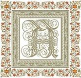 Gótico. Quadro bonito com um ornamento da flor. Foto de Stock Royalty Free