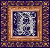 Gótico. Quadro bonito com um ornamento da flor. Imagem de Stock Royalty Free