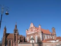 Gótico rojo en Vilnius foto de archivo libre de regalías