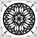 Gótico subió, el elemento de la arquitectura gótica Imágenes de archivo libres de regalías