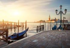 Gôndola e San Giorgio Fotos de Stock Royalty Free