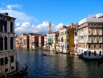Gôndola grande do canal grande de Canale da arquitetura de Veneza fotografia de stock royalty free
