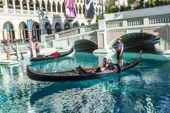 Gôndola no recurso Venetian   Foto de Stock Royalty Free