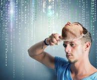 Gömd identitet av en en hacker royaltyfria foton