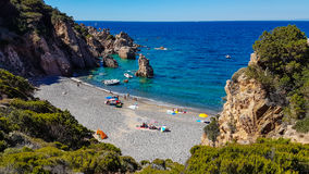 Gömd strand i Sardinia arkivfoto