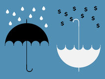 Gömda fördelar av paraplyet Royaltyfri Fotografi