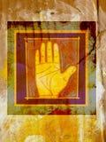 Gömma i handflatan av en mänsklig hand Vektor Illustrationer