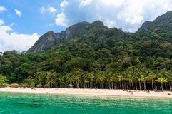 gömma i handflatan den klara ön 3d framförandeskytrees Arkivbilder